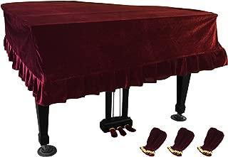 NKTM Pleuche Grand Piano Cover Bordered Dust Protective Cover Cloth 65 x 59 x 20in
