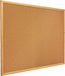 Quartet Corkboard, Framed Bulletin Board, 8' x 4', Corkboard, Oak Finish Frame (308)