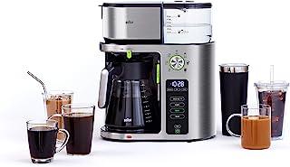 قهوه ساز Braun KF9070SI MultiServe 7 اندازه قابل برنامه ریزی برای تولید دم / 3 قدرت قهوه یخ زده