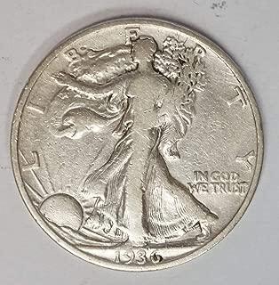 1936 P Walking Liberty Half Dollar 50c Average Circulated