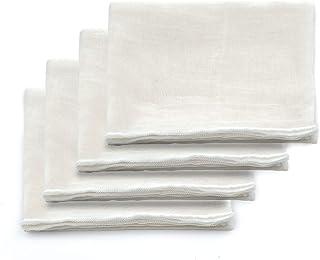 Vordas Welecoco 4 stuks kaasdoek, 100% ongebleekte katoenen kaasdoek, mousseline doeken voor zeven, kaasdoek stof mousseli...