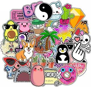 Cute VSCO Vinyl Stickers 50 Pcs for Hydroflasks Water Bottles Cartoon Stickers for Scrapbooks Laptop Helmet Luggage Graffiti Stickers for Kids Teens Adults Girls Boys