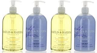 Baylis & Harding Hand Wash 4 Pack, England Sweet Mandarin & Grapefruit and English Lavender% Chamomile