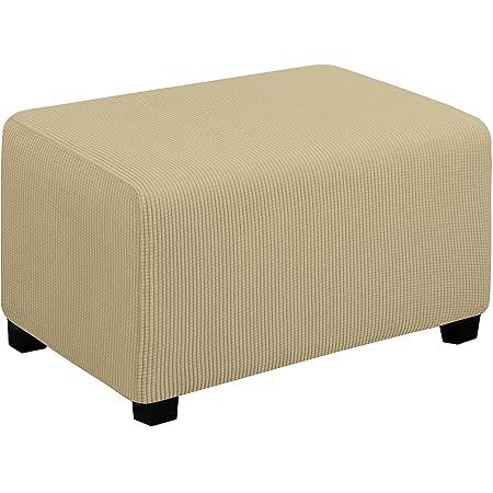 Elastic Ottoman Cover Soft EASY CARE Rectangle Footrest Stool Sofa Slipcover
