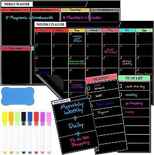 $21 » 5 Packs Magnetic Dry Erase Calendar for Refrigerator Fridge Whiteboard Calendar to Do List Notepad Monthly Weekly Planner ...