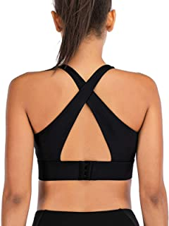 Contain Pad Sports Bras Push Up Cross-Back Straps Hook-and-Eye Closure Running Fitness Bra Top Clothing Women Training Yog...