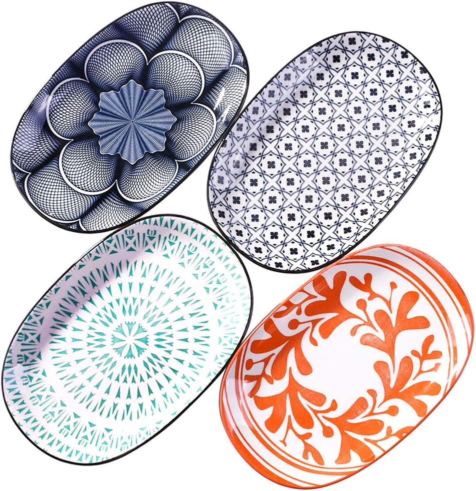 Family Dinner Plates set of National products Super beauty product restock quality top 4 Fam Glazed Ceramic Plate Japanese