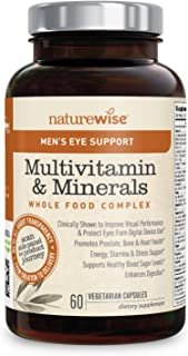NatureWise Men's Whole Food Multivitamin with Eye Support | Vitamins, Minerals, Organic Whole Foods + Lutemax 2020 to Prot...