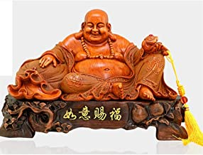 PPCP Opening Light Laughing Maitreya Buddha Ornaments Lucky Belly Buddha Statue Feng Shui Craft Home Office Decoration Des...