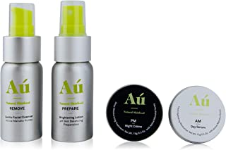 Facial Care Kit by Au Natural Skinfood | Day & Night Anti-aging & Hydrating Set: Day Serum, Night Cream, Remove Facial Cle...