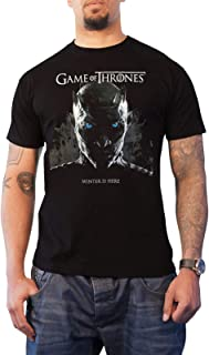 Game of Thrones T Shirt Winter is Here Night King Rising Official Mens Black
