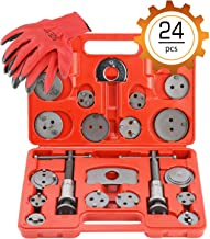 OrionMotorTech 24PCS Master Disc Brake Piston Caliper Compressor Spreader Tool Set | Brake Pad Replacement Reset Wind Back Kit
