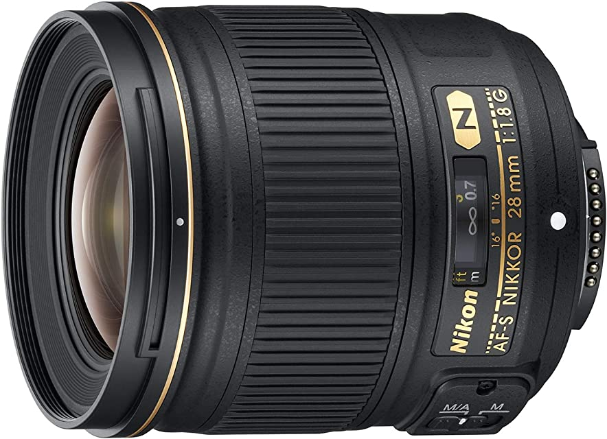 Nikon AF-S 28mm F1.8 G - Objetivo para Nikon (Distancia Focal Fija 28mm Apertura f/1.8) Color Negro