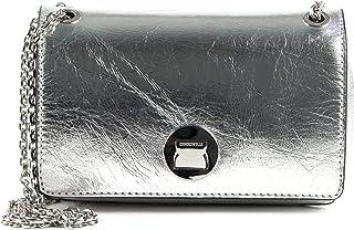 Coccinelle Liya Craquele Small Handbag Silver