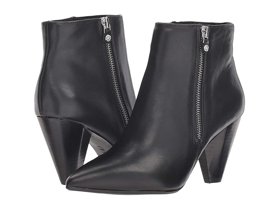 Anne Klein Yavin Bootie (Black Leather) Women