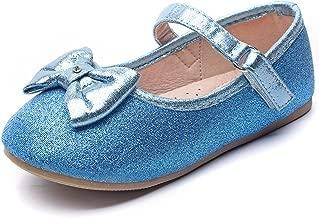 Chiximaxu Maxu Toddler Girl's Marry Jane Flat Casual Strap Ballerina Shoes(Toddler/Little Kid)