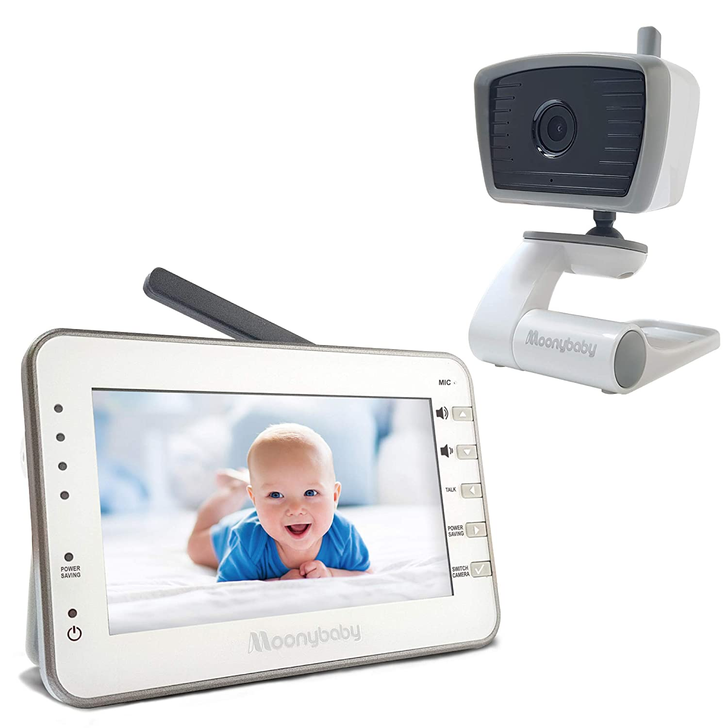 MoonyBaby Long Range No WiFi Baby Monitor with Camera and Audio, Power Saving/Voice Activation, Auto Night Vision, 2-Way Talk-Back and Long Battery Life, Trust 30