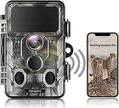 TOGUARD Verbeterde Wildlife Camera WiFi Bluetooth 20MP 1296P Jacht Trail Camera met 120 ° Monitoring Hoek met Bewegingsgea...