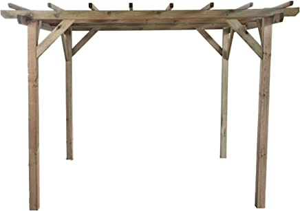 GC Henley Holzpavillon Klassische Viereckige Pergola Aus Fichtenholz Druckimpragniert Masse H215 Cm