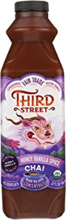 Third Street Organic Honey Vanilla Spice Chai Black Tea Latte Concentrate, 32 Fluid Ounce -- 6 per case.