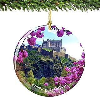 Best City-Souvenirs Edinburgh Scotland Christmas Ornament Porcelain, 2.75 Inch Double Sided Scottish Ornaments Review