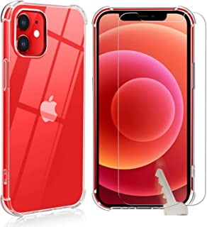 Easylifes Case for iPhone 12 Mini Cover with Apple 12 Mini Tempered Glass Screen Protectors, Soft TPU Bumper Silicone Cove...