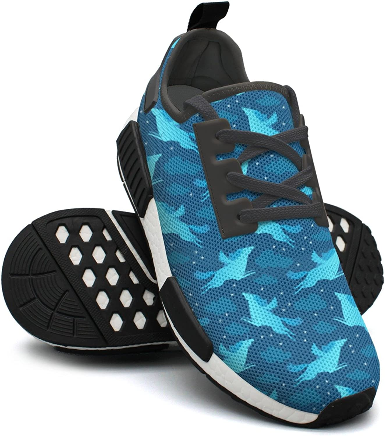 bluee Star Sky Fly Unicorn Casual Sport Jogging shoes for Women NMD
