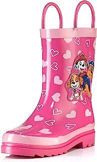 حذاء مطر من المطاط سهل الارتداء مطبوع عليه شخصية باو باترول للأطفال من نيكيلوديون (للأطفال الصغار/الأطفال الصغار)