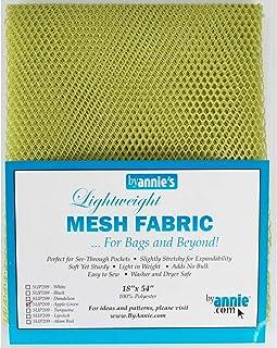By Annie Mesh Fabric Lightweight 18x54AppleGreen