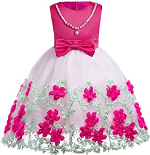 Surprise S Girl Embroidery Silk Princess Dress Wedding Party Kids Toddler Children Fashion Christmas Clothing