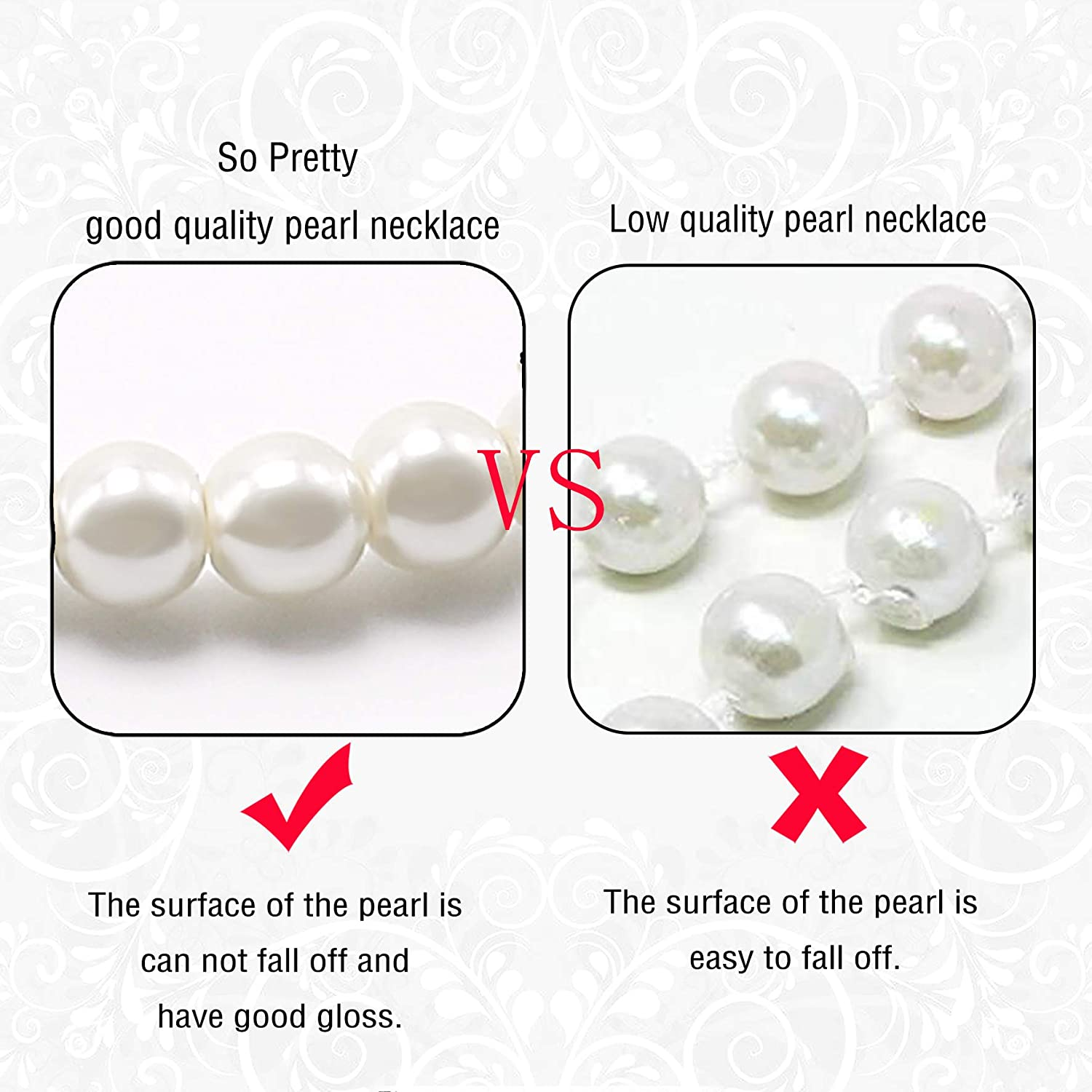 Aisansty Long Pearl Necklaces for Women Cream White Faux Pearl Strand Layered Necklace Costume Jewelry,69