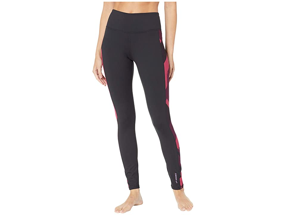 Brooks Greenlight Tights (Black/Plum Eclipse) Women