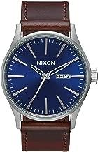 Nixon Men's A105 Sentry 42mm Stainless Steel Leather Quartz Movement Watch