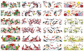 12 Pack/LOT Water Decal Nail Art Nail Sticker Full Cover Chinese Style Painting Fishes Flower Lotus New Year BN529-540
