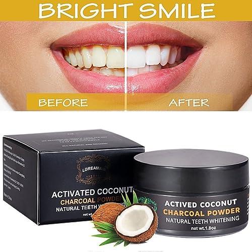 Polvo blanqueador de dientes,Blanqueador Dental de Carbón Activado,Blanqueamiento de dientes,Teeth