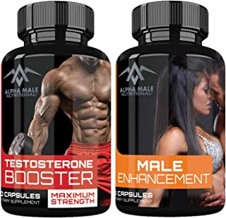 Alpha Male Combo Pack Testosterone Booster & Alpha Male Enhancement - Natural Stamina, Endurance and Strength Booster - Fortifies Metabolism - Promotes Healthy Drive and Greater Blood Flow (120 count)