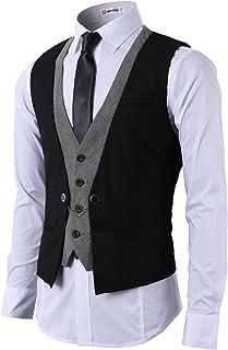 H2H Mens Dress Slim Fit Vests Premium Business Dress Suit Vests Button Closure