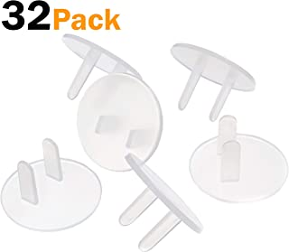 Outlet Plug Covers Clear (32 Pack) Child Proof Electrical Safety Outlet Covers - sMailez