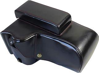Versión de protección Completa con Apertura Inferior para Nikon COOLPIX P1000 con 24-3000mm Lente Funda Protectora de Cuero PU de la cámara