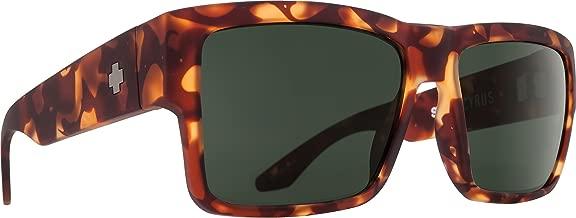 Spy Optic Cyrus Flat Sunglasses, Soft Matte Camo Tort/Happy Gray/Green, 1.5 mm