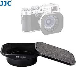 JJC LH-JX100FII Black Square Metal Lens Hood for Fujifilm X70 X100 X100S X100T X100F, Fuji X100S Lens Hood, X100T Lens Hood, X100F Lens Hood, W/Front Cap, Fujifilm LH-X100 Lens Hood Replacement