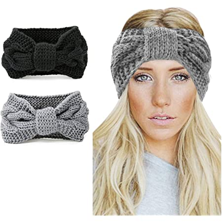 4 Colours Details about  /Warm Winter Knitted Headband Head Wrap Women Ladies Spring Autumn
