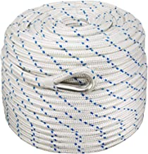 Norestar Braided Nylon Anchor Rope/Line with Thimble, Boat Rode