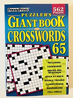 Volume 65 of the Puzzlers Giant Book of Crosswords Penny Press