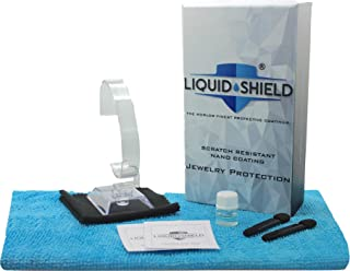 Liquid Shield Protective Nano Coating for Watches, Fine Jewelry (3-Step Kit) Scratch Resistant Jewelry Cleaner - Preserves and Protects - Includes Microfiber Cloths, Cleaning Wipes and More