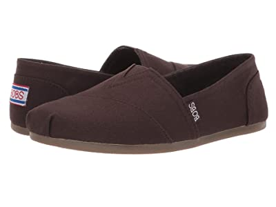 BOBS from SKECHERS Bobs Plush Peace Love (Dark Brown) Women