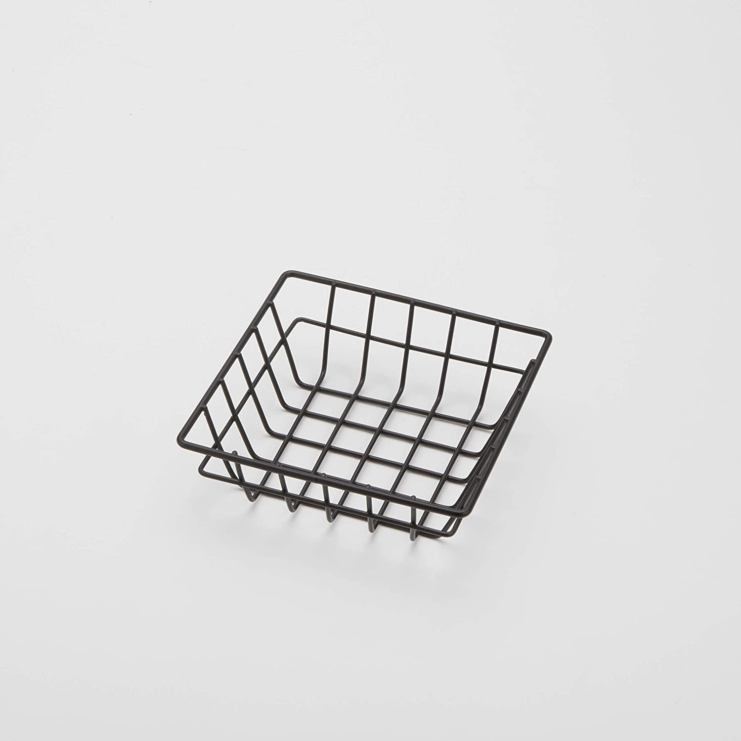 American Metalcraft SQGB6 Square Wire Grid Basket, Black, 6-Inches