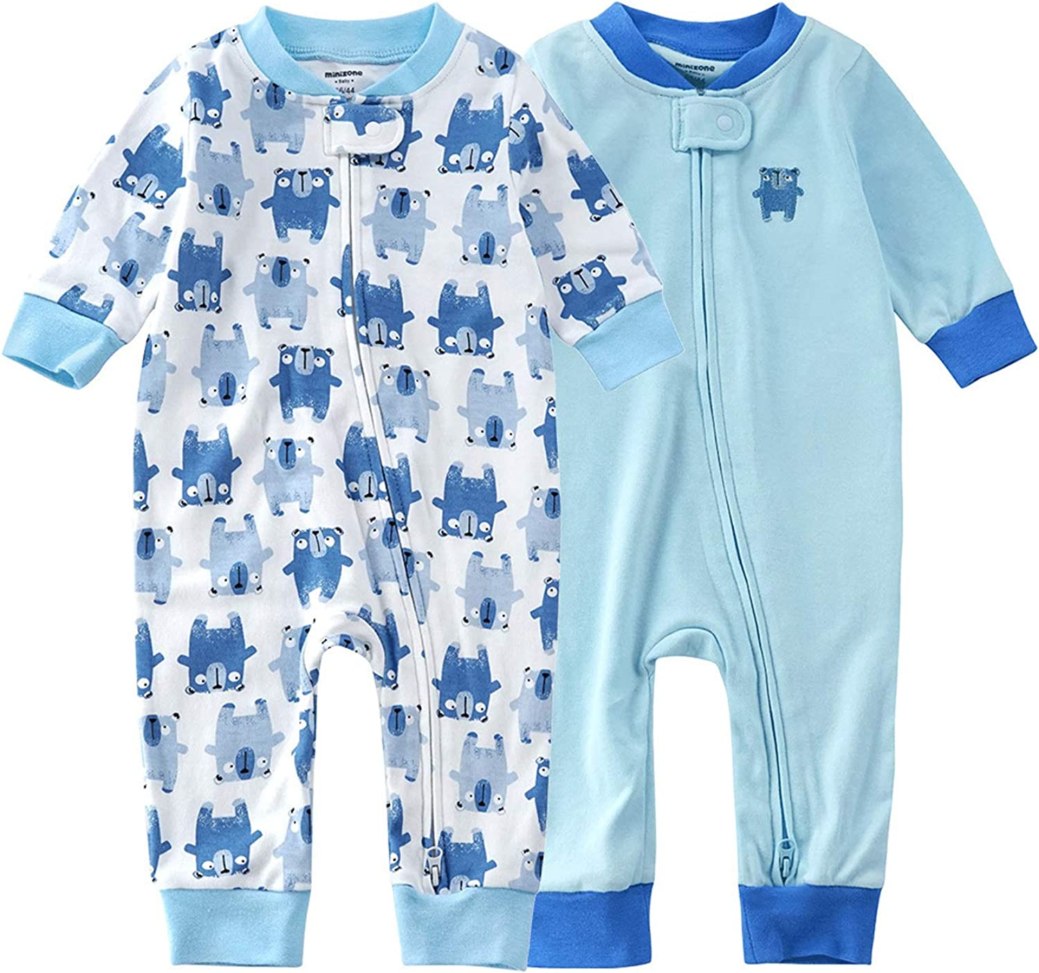 Teach Leanbh Baby Indianapolis Mall 2-Pack Footless Cotton Pajamas 5% OFF Long Pri Sleeve