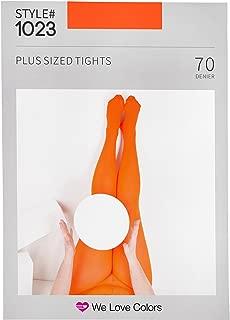 plus size orange tights