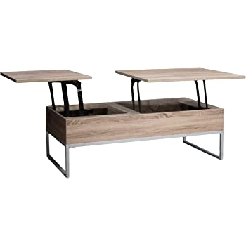 Christopher Knight Home Lift Functional Coffee Table, Dark Sonoma